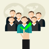 Recruitment illustration. Human resources, finding employee, recruit candidate. Royalty Free Stock Photography