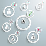 Recruitment Infographic White Rings Stock Image