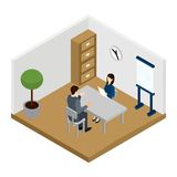 Recruitment Interview Illustration Royalty Free Stock Image