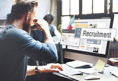 Recruitment Job Work Vacancy Search Concept royalty free stock photography