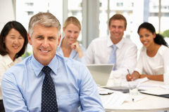 Recruitment office meeting Stock Image
