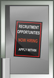 Recruitment opportunity concept. Stock Photography