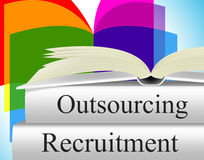 Recruitment Outsource Represents Independent Contractor And Employment. Recruitment Outsource Showing Sourcing Contract And Contracting stock illustration