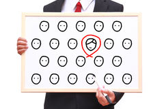 Recruitment person for work Stock Image