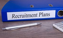Recruitment Plans Binder in the Office royalty free stock image