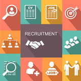 Recruitment poster icons set Royalty Free Stock Photography