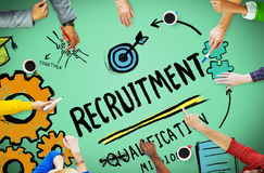 Recruitment Qualification Mission Application Employment Hiring Stock Photo