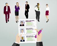 Recruitment with resume. Selecting employees Royalty Free Stock Photography