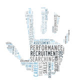 Recruitment. And searching word cloud vector illustration