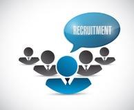 Recruitment team illustration design Royalty Free Stock Images