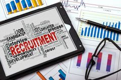 Recruitment word cloud Stock Images