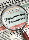 Recrutamento agora de aluguer Resourcer 3d Fotografia de Stock