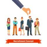 Recrutamento e conceito dos recursos humanos Imagens de Stock