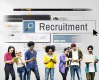 Recrutamento Job Work Vacancy Search Concept Foto de Stock