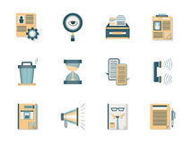 Recrutant des cadres les icônes plates de couleur réglées Photographie stock