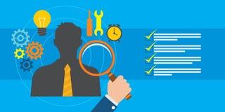 Recrutement et gestion des employés illustration de vecteur