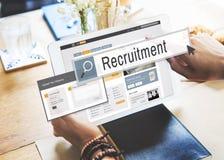 Recrutement Job Work Vacancy Search Concept image libre de droits