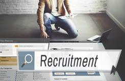 Recrutement Job Work Vacancy Search Concept images libres de droits
