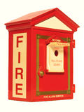 Rectángulo alarma de incendio Imagenes de archivo
