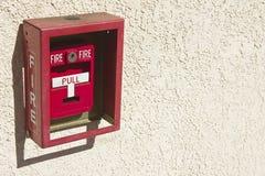 Rectángulo alarma de incendio Fotografía de archivo