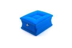 Rectángulo azul para la joyería Foto de archivo