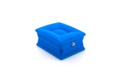 Rectángulo azul para la joyería Imagenes de archivo
