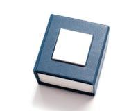 Rectángulo azul para la joyería Fotografía de archivo libre de regalías