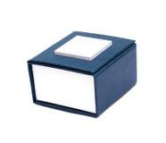 Rectángulo azul para la joyería Fotos de archivo libres de regalías