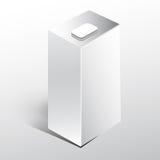 Rectángulo blanco de la leche del jugo Fotografía de archivo libre de regalías