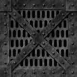 Rectángulo bloqueado fuerte del metal Foto de archivo libre de regalías