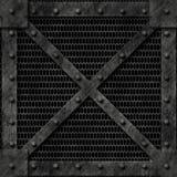 Rectángulo bloqueado fuerte del metal Imagenes de archivo