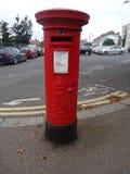 Rectángulo británico rojo del poste imagen de archivo