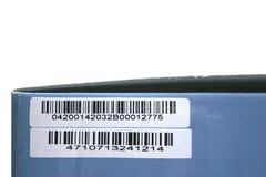 Rectángulo con clave de barras Imagen de archivo