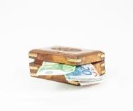 Rectángulo con el dinero Fotografía de archivo libre de regalías