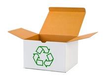 Rectángulo con el reciclaje de la muestra Imagen de archivo libre de regalías