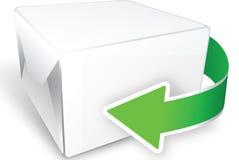 Rectángulo con la flecha Imagen de archivo libre de regalías
