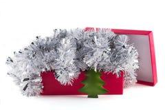 Rectángulo con las decoraciones de la Navidad Foto de archivo libre de regalías