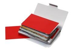 Rectángulo con las tarjetas de visita Foto de archivo libre de regalías