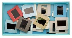 Rectángulo con las viejas diapositivas polvorientas Foto de archivo libre de regalías