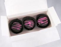 Rectángulo con los chocolates. fotos de archivo libres de regalías