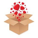 Rectángulo con los corazones Fotos de archivo libres de regalías