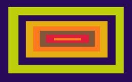 Rectángulo con los marcos coloreados dentro Foto de archivo libre de regalías