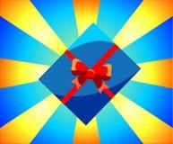 Rectángulo con un regalo Ejemplo de la Navidad en un fondo elegante ilustración del vector