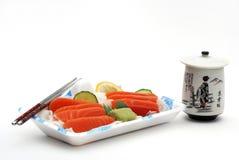Rectángulo de almuerzo del sashimi del sushi Imágenes de archivo libres de regalías