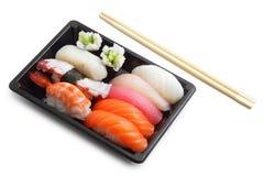 Rectángulo de almuerzo del sushi Fotografía de archivo