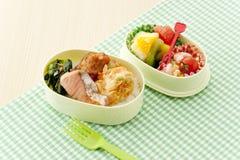Rectángulo de almuerzo japonés imágenes de archivo libres de regalías