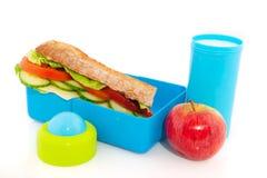Rectángulo de almuerzo sano fotos de archivo