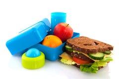 Rectángulo de almuerzo sano imágenes de archivo libres de regalías