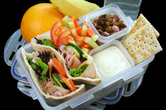 Rectángulo de almuerzo sano de los cabritos Imágenes de archivo libres de regalías