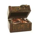 Rectángulo de Brown por completo de monedas imágenes de archivo libres de regalías